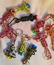 Lot of 10 Handmade Bug Paracord Key Fobs - $14.38