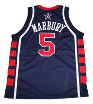Stephon Marbury Team USA Basketball Jersey Sewn Navy Blue Any Size image 2
