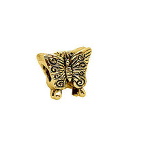 NICE Cute Butterfly Gold pltd over real sterling silver European bracele... - $19.91