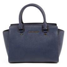 Dark Blue ONE SIZE Michael Kors Womens Handbag SELMA 30S3GLMS2L NAVY - $176.90