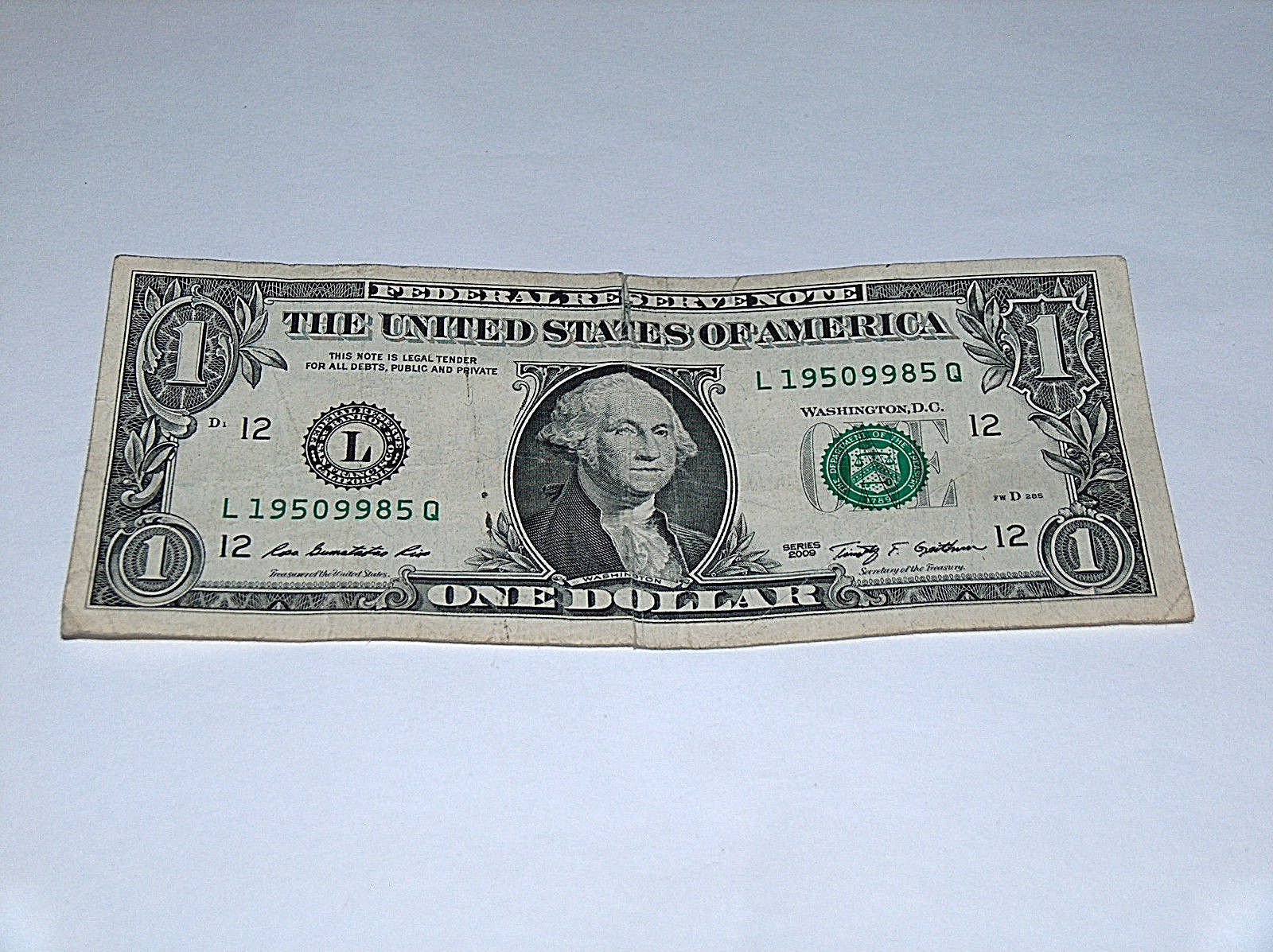 2009 $1 Dollar Bill US Bank Note Year Date Birthday 1950 9985 Fancy Money Serial