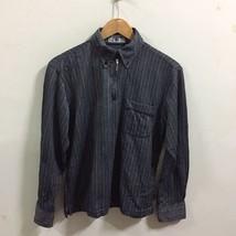 Kansai Yamamoto Homme Polo Shirt Size M Grayish Black Long Sleeve Zip Up... - $29.99