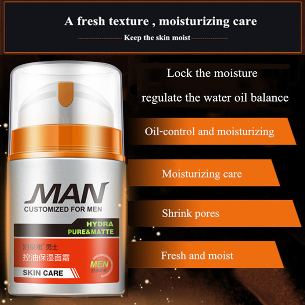Men Deep Hydrating Moisturizing Oil Control Anti-Wrinkle Face Moisturizer Gel