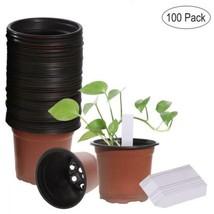 Ounona - Lot de 100 pots semis, en plastique léger - Avec étiquettes  - $43.96 CAD