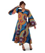 African print wrap dress thumbtall