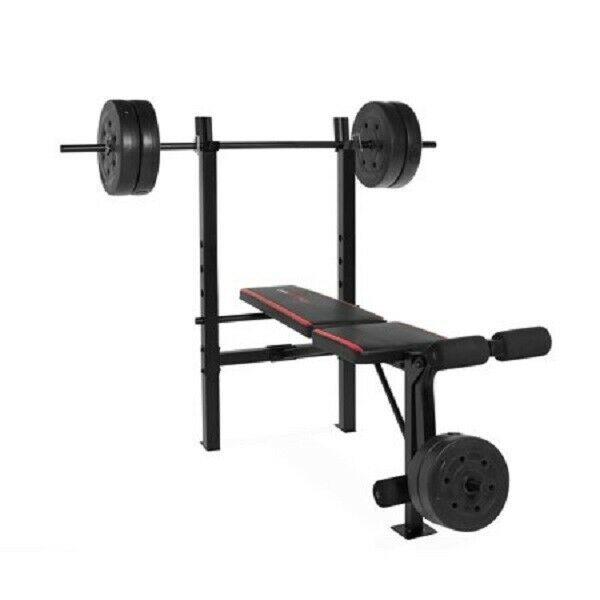 XL Mega Weight Set 240 Lbs Bench Weights Bar Press Barbell Dumbbell SuperSet Gym image 6
