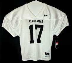 Nike Football Game Jersey Shirt Boys Youth Sz L Large White Clackamas  Short 17 - $29.37