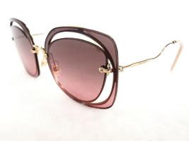MIU MIU Women's Sunglasses MU54SS ZVN146 145 Gold Metal MADE IN ITALY - ... - $199.95