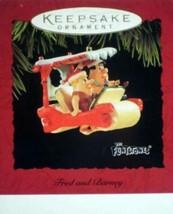 Hallmark  Ornament - Fred And Barney - The Flintstones - Flimtmobile - $84.32