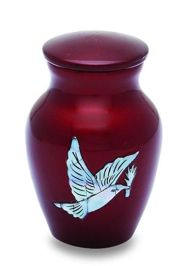 Pearl Dove 3 Cubic Inches Small/Keepsake Funeral Cremation Urn for Ashes
