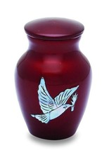 Pearl Dove 3 Cubic Inches Small/Keepsake Funeral Cremation Urn for Ashes - $59.99