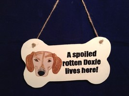 NEW Elfworks Lane Bone Shaped Doxie Hanging Sign Made in USA - $39.99