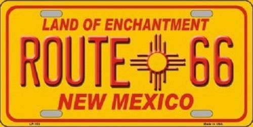 Route 66 New Mexico License Plate Novelty Metal State Background Auto Tag Sign