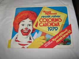 RONALD MCDONALD SECRET SOLVER COLORING CALENDER , 1979 - $11.79