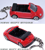 KEY CHAIN RED BLACK VW NEW BEETLE CONVERTIBLE LIMITED EDITION CUSTOM KEY... - $28.98