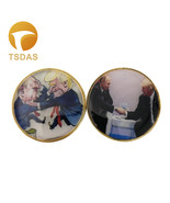 24k Gold Plated Coin Trump & Putin Metal Coin Commemorative Gold Souveni... - $5.50
