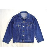 Vtg SOUTHERN PACIFIC Railroad Train Blue Denim Jean Trucker Work Chore J... - $24.74