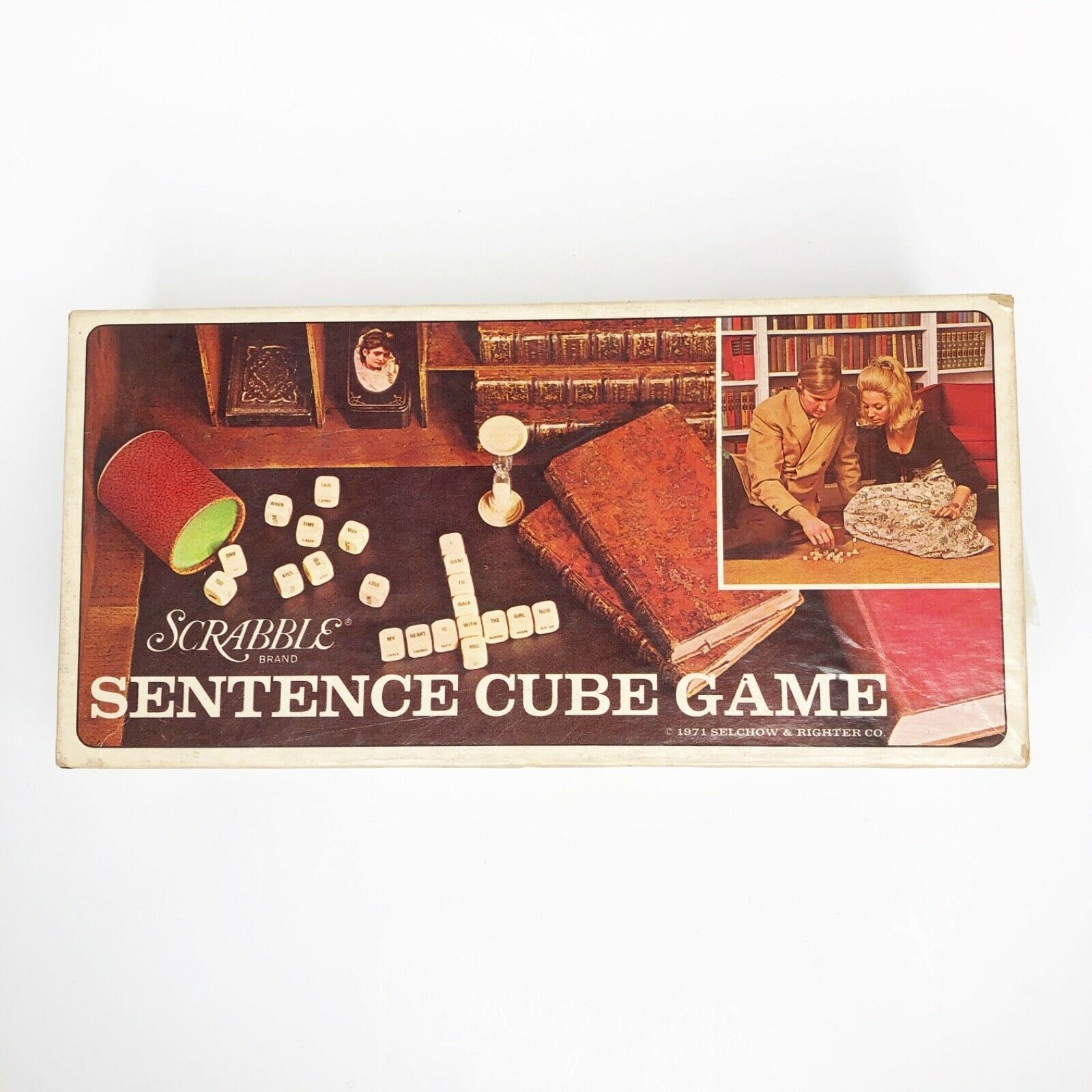 Primary image for Vintage Scrabble Sentence Cube Game 1971 Selchow & Righter Company No Timer