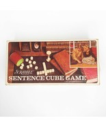 Vintage Scrabble Sentence Cube Game 1971 Selchow & Righter Company No Timer - $12.86