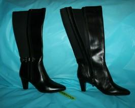 Anne Klein AK Gallagher Leather High Heel Boots Size Women's 8M - $44.54