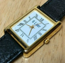 Vintage 6 Liter Men Hot Style Gold Rectangle Analog Quartz Watch Hour~Ne... - $23.74