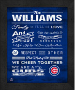 """Personalized Chicago Cubs """"Family Cheer"""" 13 x 16 Framed Print - $39.95"""
