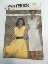Butterick 4963 Womens Sleeveless Dress Size 10 Vintage Sewing Pattern - $6.21