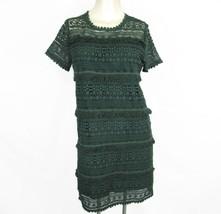 NWT Anthropologie Dark Green Lace Dress XS  02SkyFringe Scallop Zero To ... - $49.45
