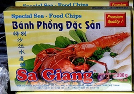 Rice chips with the addition of shrimp powder - 200 gr. Vietnam - $8.00