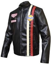 Steve Mens Gulf Le Biker Mans MC Synthetic Leather Queen Jacket image 6