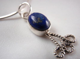 New Lapis Rope Adorned 925 Silver Necklace India - $22.43