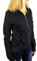 NEW NWT LEVI'S JUNIORS BASIC CLASSIC COTTON ATHLETIC HOODIE JACKET SWEATER BLACK image 1