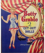 VINTAGE UNCUT 1943 BETTY GRABLE PAPER DOLLS (WWII VICTORY SET!) #1 REPRO... - $19.99