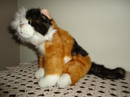 Gorgeous RARE Sitting CAT Stuffed Plush ADORABLE  - $64.60