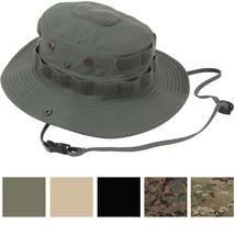 Tactical Boonie Hat Ripstop Wide Brim Operator Bucket Cap Sun Fishing Tr... - $26.99