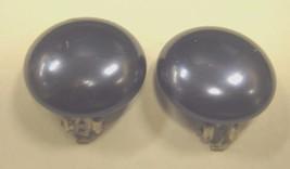 CLIP EARRINGS navy blue button style CLIP EARRINGS - $2.96