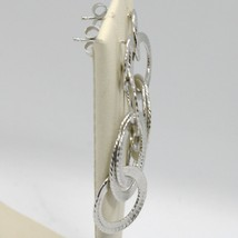 DROP EARRINGS 925 SILVER WITH CIRCLES WORKED BY MARY JANE IELPO, MADE IN ITALY image 2