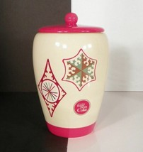 """Coca Cola Ceramic Cookie Bisquit Jar """"Things Go Better with Coke"""" Christ... - $18.80"""