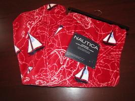 Nautica new 50x70 oversized plush throw blanket sailboats & charts red - $34.95