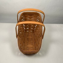 Longaberger Basket 1991 Medium Vegetable Two Movable Handles Classic Stain - $25.00
