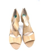 Neutral Leather Shoes Franco Sarto Giseppe Tan Caramel Wedge Sandals Wom... - $34.50