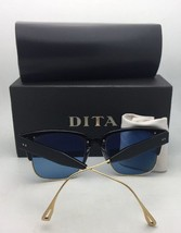 New DITA Sunglasses FLIGHT 005 7805-E-BLK-NVY-61 Blue & Gold Aviator w/Blue Lens