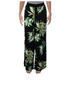 LAUREN RALPH LAUREN Womens Azarelle Printed Pull On Wide Leg Pants Black L - $68.31