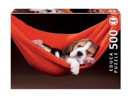 """NEW Educa Jigsaw Puzzle Game 500 Pieces Tiles """"Sleeping in A Hammock"""" - $29.89"""