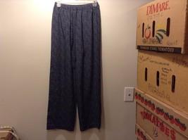 Vintage Studio Drawstring Stretch Black Blue Pants Sz M