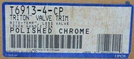KOHLER T6913 4 CP Triton Valve Trim Rite Temp Lever Handle Polished Chrome image 3