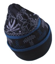 LRG Lifted Research Group Black Mushroom Weed Alpine Devine Beanie Winter Hat NW image 2
