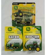 Lot of 3 John Deere Die Cast and Plastic Toy Farm Trucks by Ertl Tractor... - $26.72