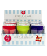 Pack of 12 Cupcake Cases Making Moulds Food - Grade Silicone Baking Moulds - $10.45