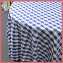 Round 90 inches Tablecloth Checker Polyester Bu... - $25.25